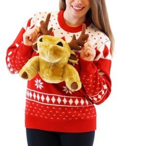 🆕3D moose holiday sweater